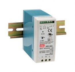 Mean Well DRC-60A két kimenetes tápegység és akkumulátor töltő